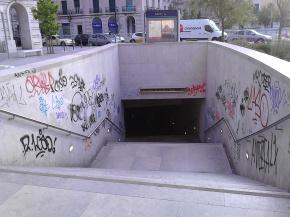 A nova entrada para o metro.